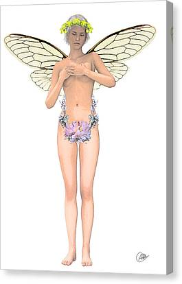 Tinker Bell Modernist Canvas Print by Quim Abella