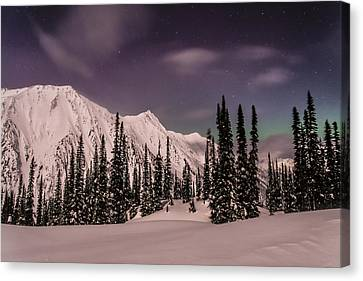 Fairy Meadows Northern Lights Canvas Print by Ian Stotesbury