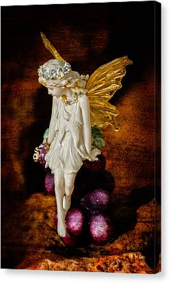 Canvas Print featuring the photograph Fairy Of The Harvest Moon by Dave Garner