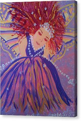 Canvas Print featuring the painting Fairy Remi by Judi Goodwin