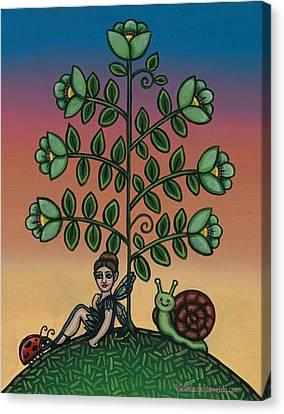 Fairy Series Tina Canvas Print by Victoria De Almeida