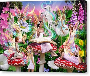 Mushroom Canvas Print - Fairy Story by Garry Walton