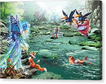 Agility Canvas Print - Fairy Stream by Zorina Baldescu