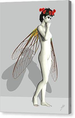 Fairy White  Canvas Print by Quim Abella