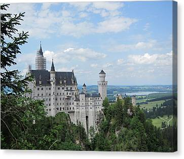 Canvas Print featuring the photograph Fairytale Castle by Pema Hou