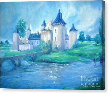 Fairytale Castle Where Dreams Come True Canvas Print by Glenna McRae