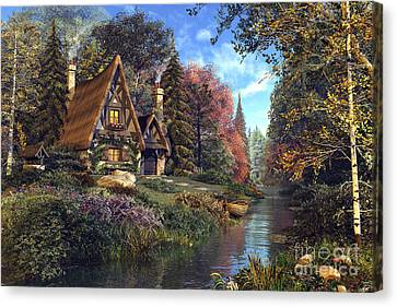 Fairytale Cottage Canvas Print by Dominic Davison