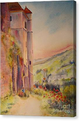 Canvas Print featuring the painting Fairytale In Perigord France by Beatrice Cloake