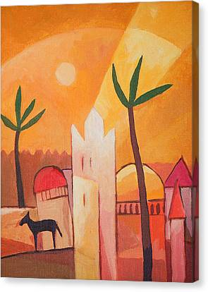 East Village Canvas Print - Fairytale Village by Lutz Baar