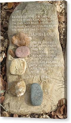 Faith And Five Stones Canvas Print