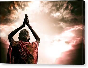 Faith And Prayers For Peace Canvas Print by Nila Newsom