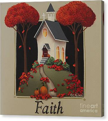 Faith Country Church Canvas Print