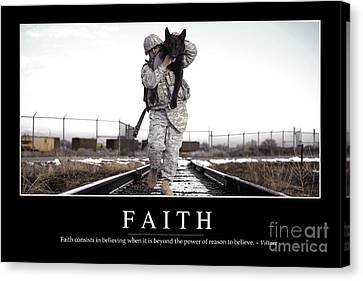 Faith Inspirational Quote Canvas Print by Stocktrek Images