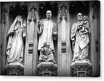 Faithful Witnesses -- Martin Luther King Jr Remembered With Bishop Romero And Duchess Elizabeth Canvas Print by Stephen Stookey