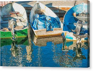 Faithful Working Boats Canvas Print