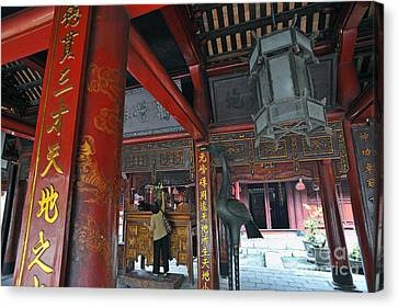 Faithfull In Temple Of Literature Canvas Print by Sami Sarkis