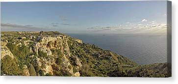 Falconry At Dingli Cliffs, Malta Canvas Print by Panoramic Images