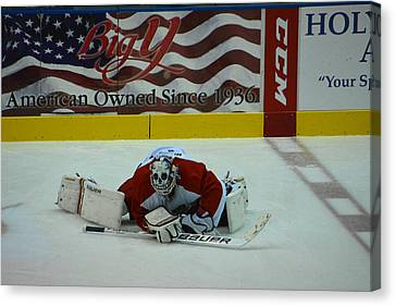 Falcons Goalie Stretching Canvas Print