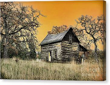 Fall Abandoned Canvas Print by Steve McKinzie