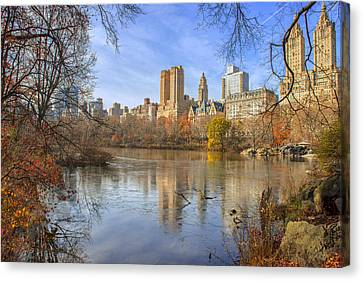 Fall Afternoon At Central Park Canvas Print by Tim Reaves