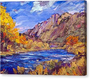 Fall Along The Rio Grande Canvas Print by Steven Boone