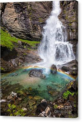 Fall And Rainbow Canvas Print