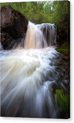 Canvas Print featuring the photograph Fall And Splash by David Andersen