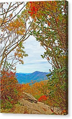 Fall At Craggy Pinnacle Canvas Print by Mela Luna