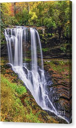 Dry Falls In Autumn Canvas Print by Anthony Heflin