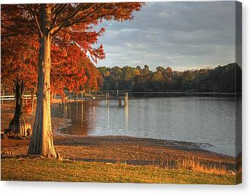 Fall At Georgia Lake Canvas Print by Donald Williams