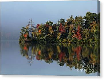 Fall At Heart Pond Canvas Print
