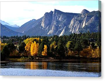Fall At Lake Estes Canvas Print by Tranquil Light  Photography