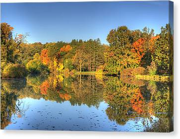 Canvas Print featuring the photograph Fall At Lake Marmo by Ed Cilley