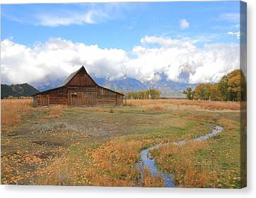 Fall At Moulton Barn Canvas Print
