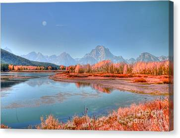Fall At Oxbow Bend Canvas Print by Kathleen Struckle