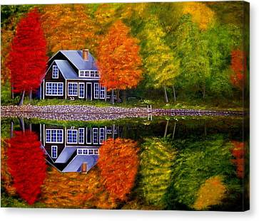 Fall At The Cabin Canvas Print