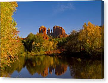 Canvas Print featuring the photograph Fall At The Crossing by Tom Kelly