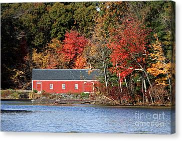 Fall At The Mill Canvas Print by Jayne Carney