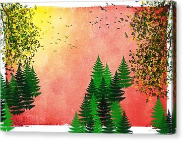 Fall Autumn Four Seasons Art Series Canvas Print by Christina Rollo