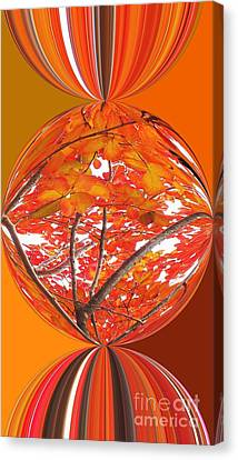 Fall Ball - Autumn Leaves And Color Canvas Print by Scott Cameron