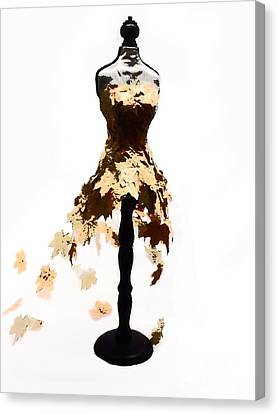 Fall Ball Gown Canvas Print by Christina Perry