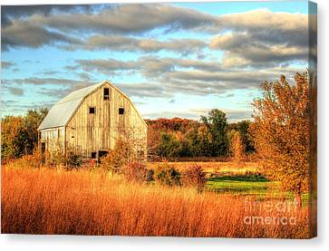 Fall Barn Beauty Canvas Print by Thomas Danilovich