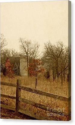 Fall Barn Canvas Print by Margie Hurwich