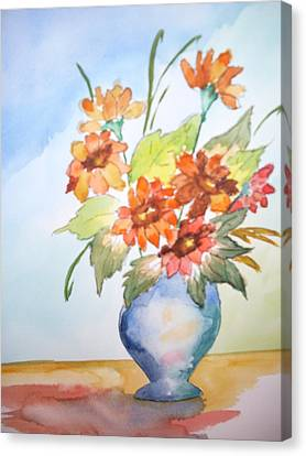 Fall Bouquet Canvas Print by Warren Thompson