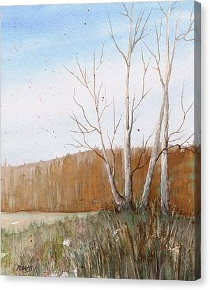 Canvas Print featuring the painting Fall Clearing by Rebecca Davis