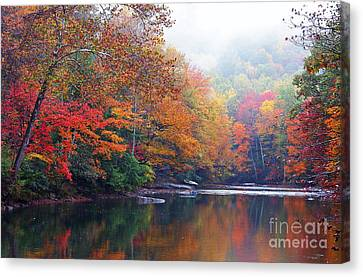 Williams River Canvas Print - Fall Color Williams River by Thomas R Fletcher