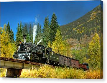 Fall Colored Bridge Canvas Print