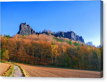 Fall Colors Around The Lilienstein Canvas Print