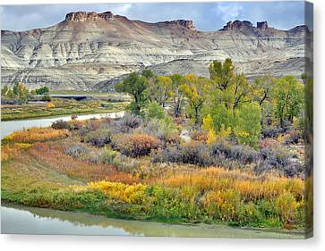 Fall Colors At Scott's Bottom Canvas Print by Eric Nielsen