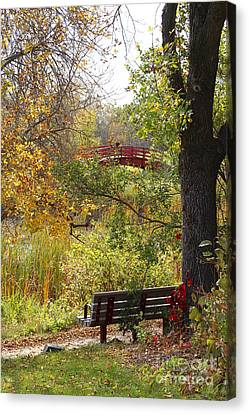 Canvas Print featuring the photograph Fall Colors by Cendrine Marrouat